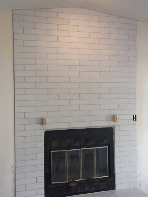 Tiling Fireplace Finish