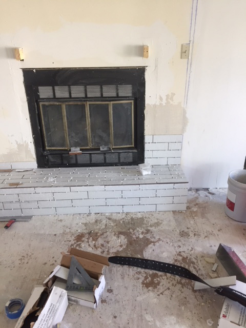 Tiling Fireplace Start